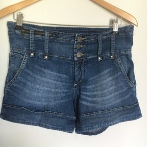 Pilcro & The Letterpress High Waisted Denim Shorts